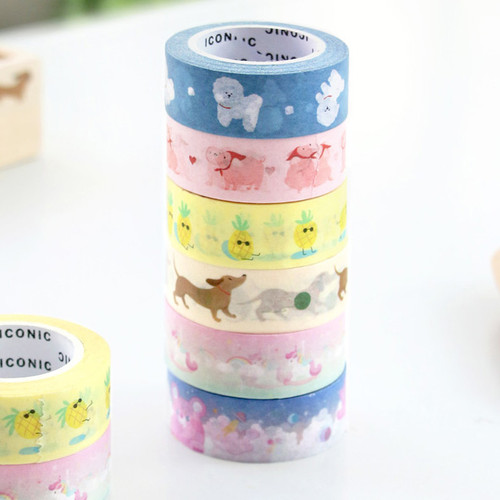 ICONIC Buddy pattern paper deco masking tape