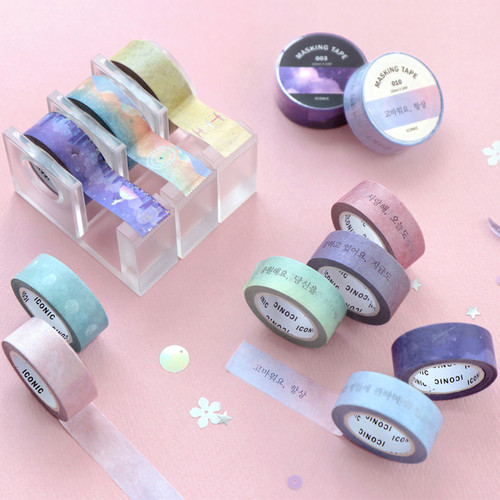 ICONIC Gradation pattern paper deco masking tape