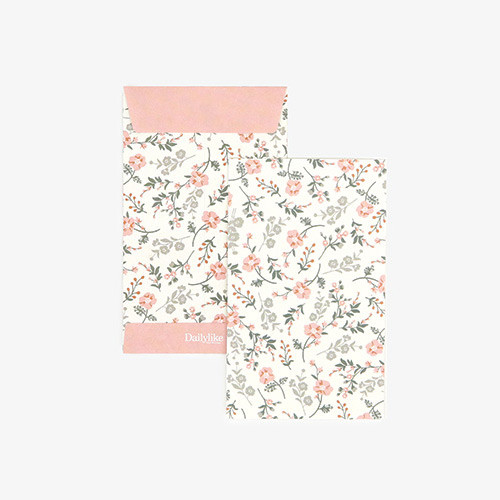 Dailylike Poppy small card and envelope set