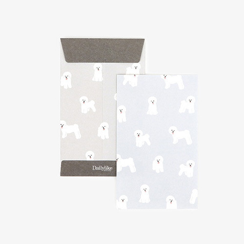 Dailylike Bichon small card and envelope set