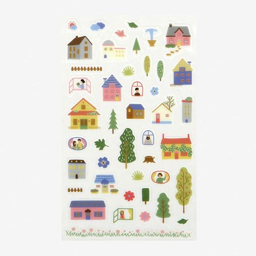 Dailylike Daily transparent deco sticker - House