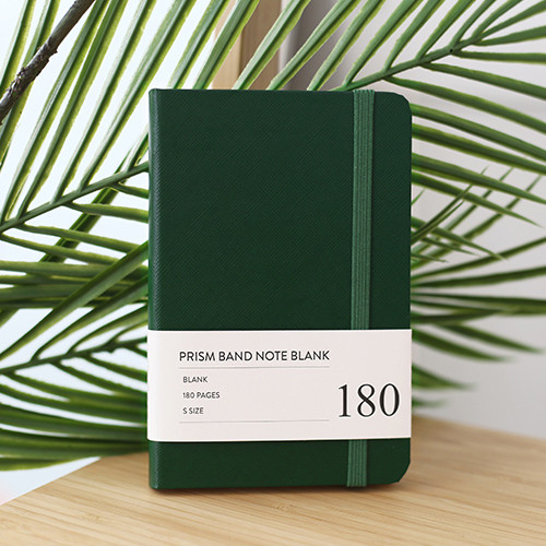 Indigo Prism 180 pages small blank notebook with elastic band