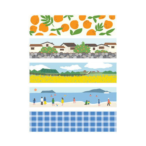 Dailylike Jeju masking seal paper deco sticker 4 sheets set