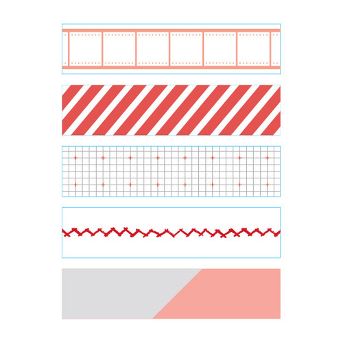 Dailylike Mark masking seal paper deco sticker 4 sheets set
