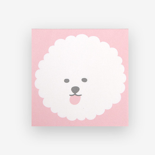 Dailylike Bichon Frise 2 designs memo writing notepad