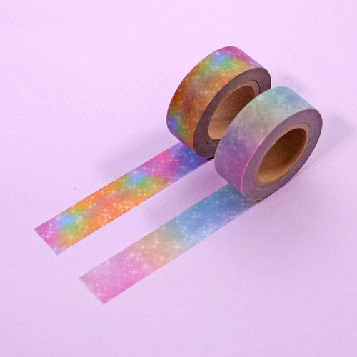 Universe pattern 15mm width deco masking tape 06