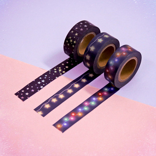 Universe star 15mm width deco masking tape 02