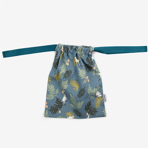 Dailylike Tropical monkey daily cotton drawstring pouch
