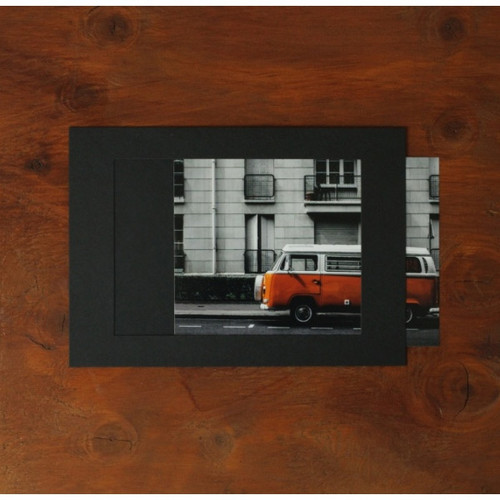 5X7 Black paper photo frame set of 10 sheets