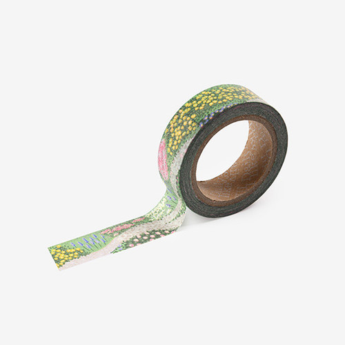 Dailylike Flower bed single roll paper deco masking tape