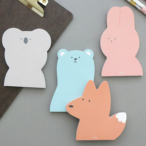 ICONIC Animal 60 sheets memo writing notepad