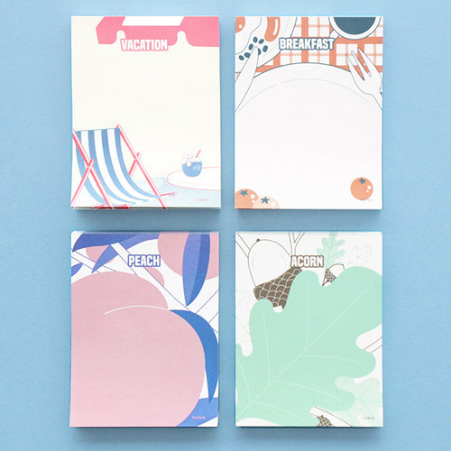 ICONIC Retro 80 sheets memo writing notepad