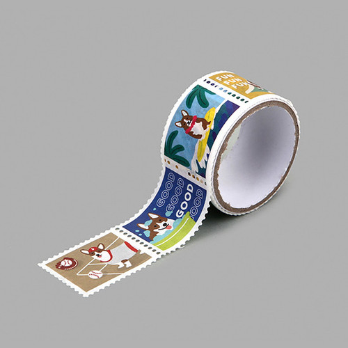 Dailylike Welsh corgi deco single stamp masking tape