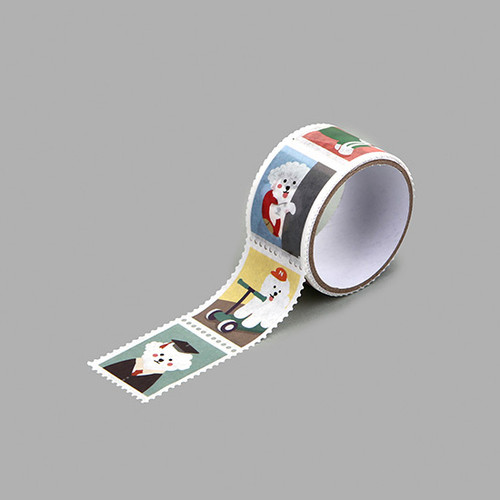 Dailylike Bichon deco single stamp masking tape