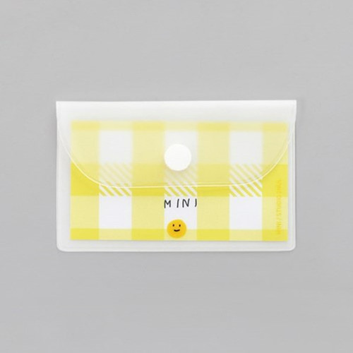 2NUL Smile mini clear card snap pouch case