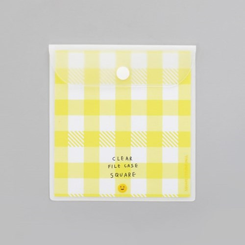 2NUL Smile square clear snap file folder case pouch