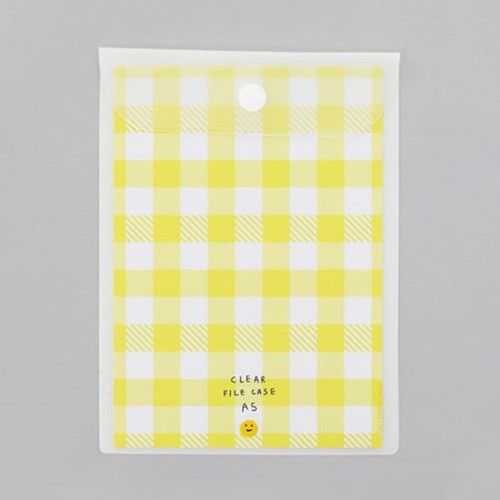 2NUL Smile A5 size clear snap file folder case pouch