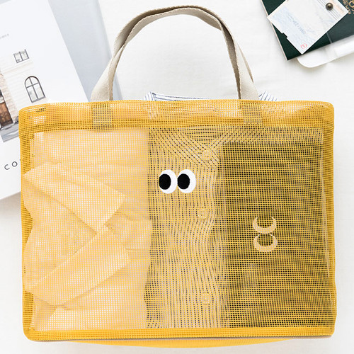 Livework Som Som stitch mesh snap button tote bag