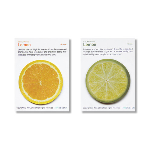 Inndesign Lemon sticky note 30 sheets