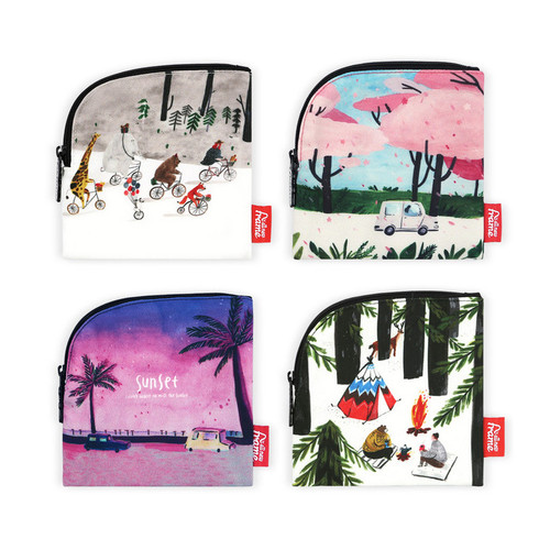 All new frame Myeongmi Choi E collection mini zipper pouch