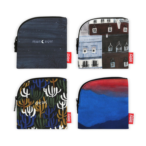 All new frame F collection mini zipper pouch