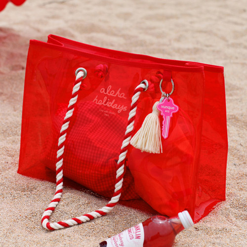 2NUL Aloha holidays red beach shoulder bag