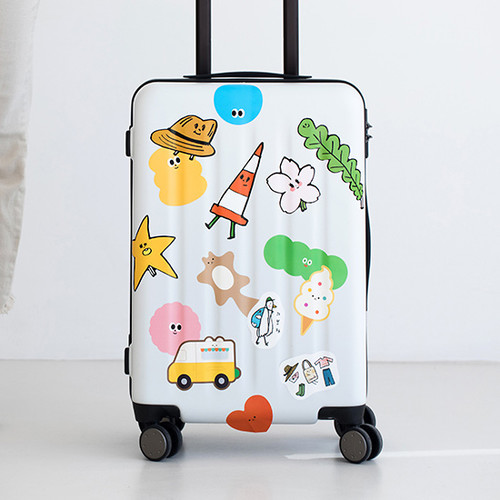 Livework Big point travel luggage sticker set