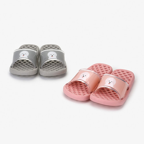 Dailylike Bichon Frise non slip bath shower slippers