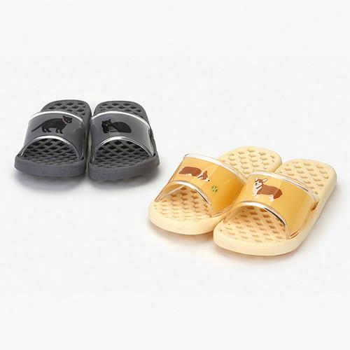 Dailylike Welsh corgi and cat non slip bath shower slippers