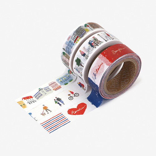 Dailylike Bonjour paper masking tape set of 3