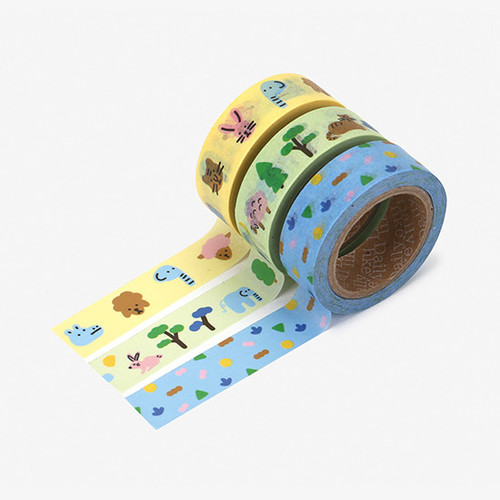 Dailylike Friends paper masking tape set of 3