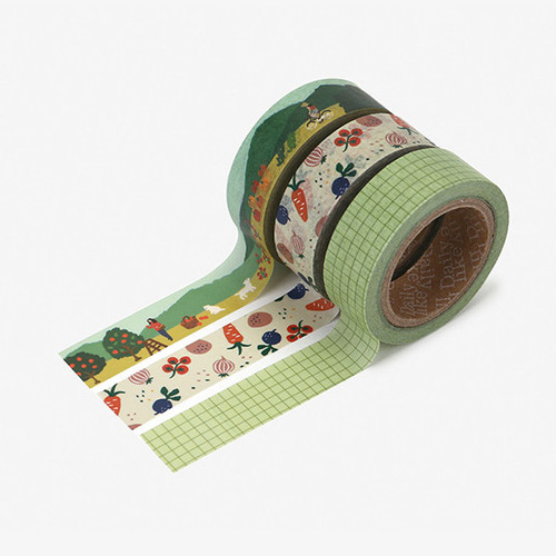 Dailylike Little forest paper masking tape set of 3