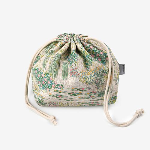 Dailylike Giverny soft oxford cotton bucket drawstring pouch
