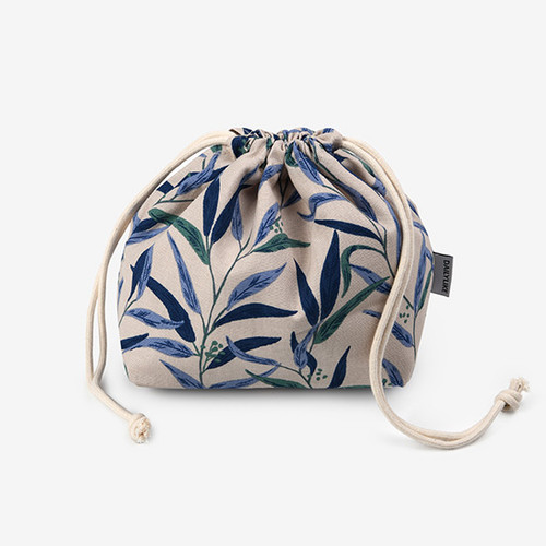 Dailylike Nicholii soft oxford cotton bucket drawstring pouch