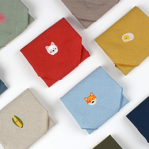Wanna This Tailorbird cute embroidered hankie handkerchief ver4