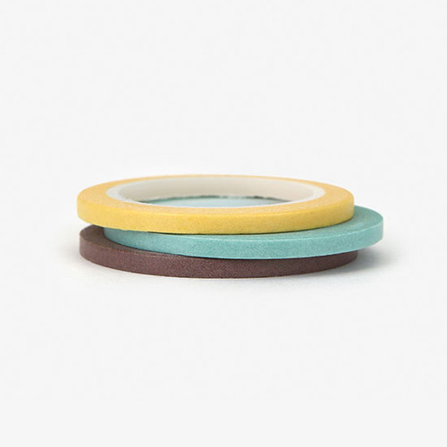 Dailylike Pastel2 3mm deco masking tape 3p set