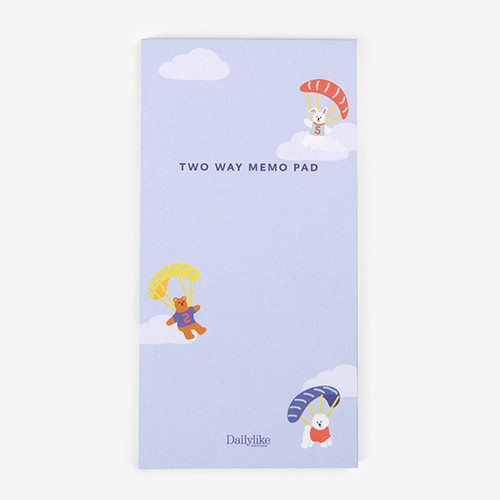 Dailylike Travel animal two way memo writing notepad