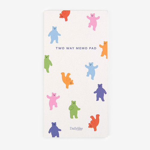 Dailylike Jelly bear two way memo writing notepad