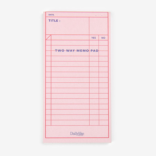 Dailylike Checklist two way memo writing notepad