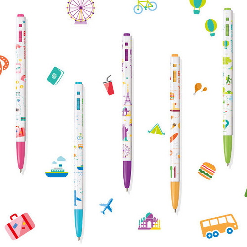 MONAMI 153 travel knock retractable ballpoint pen set