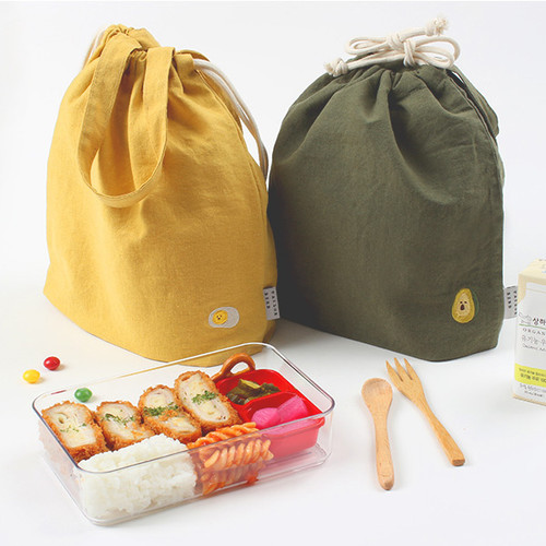 Wanna This Tailorbird embroidered medium drawstring pouch