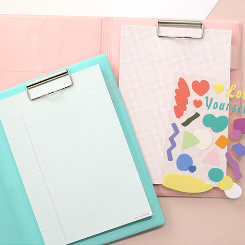 PLEPLE Memo days A5 size foldover clipboard set
