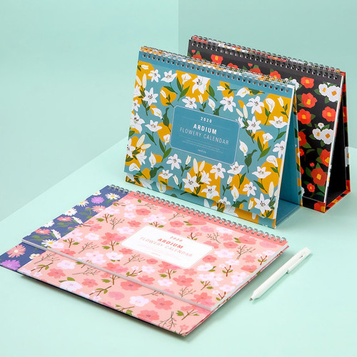 Ardium 2020 Flowery stand up desk flip monthly calendar