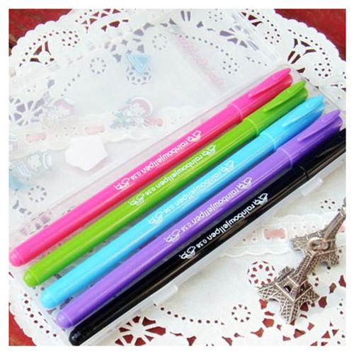 Rainbow gel pen set of 5