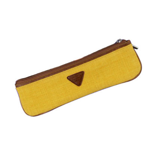Skinny pencil case - mustard