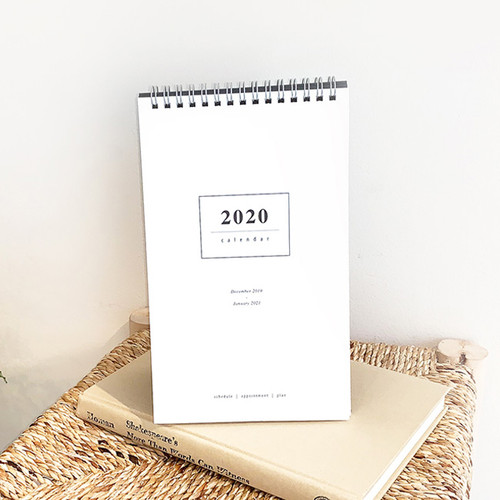 gyou 2020 a tous moments standing monthly desk calendar