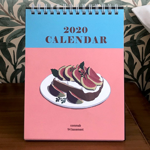 Design Comma-B 2020 Sweet dessert monthly desk calendar