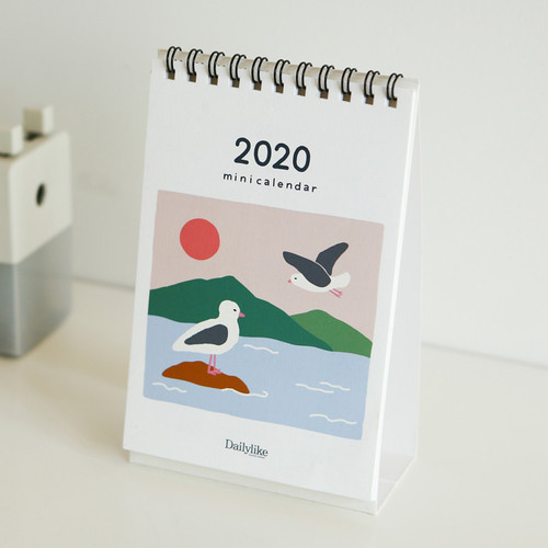 Dailylike 2020 Cute illustration small desk flip calendar