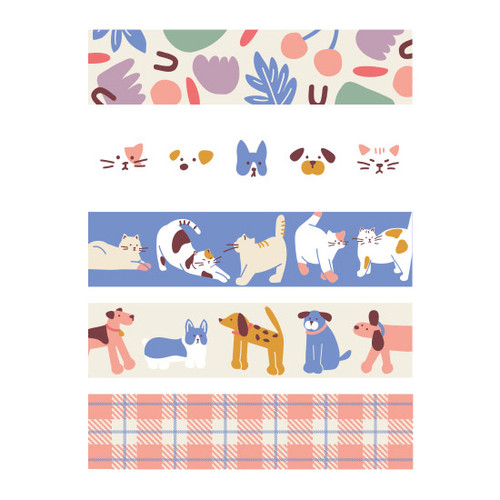 Dailylike Friends masking seal paper deco sticker set