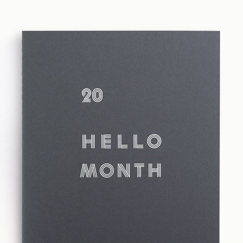 Eedendesign 2020 Hello month B5 dated monthly planner